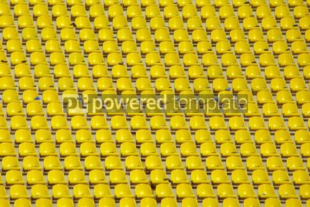Sports : Yellow empty stadium seats #05010