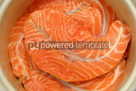 Food & Drink: Close-up fresh slices of salmon fillet #05015