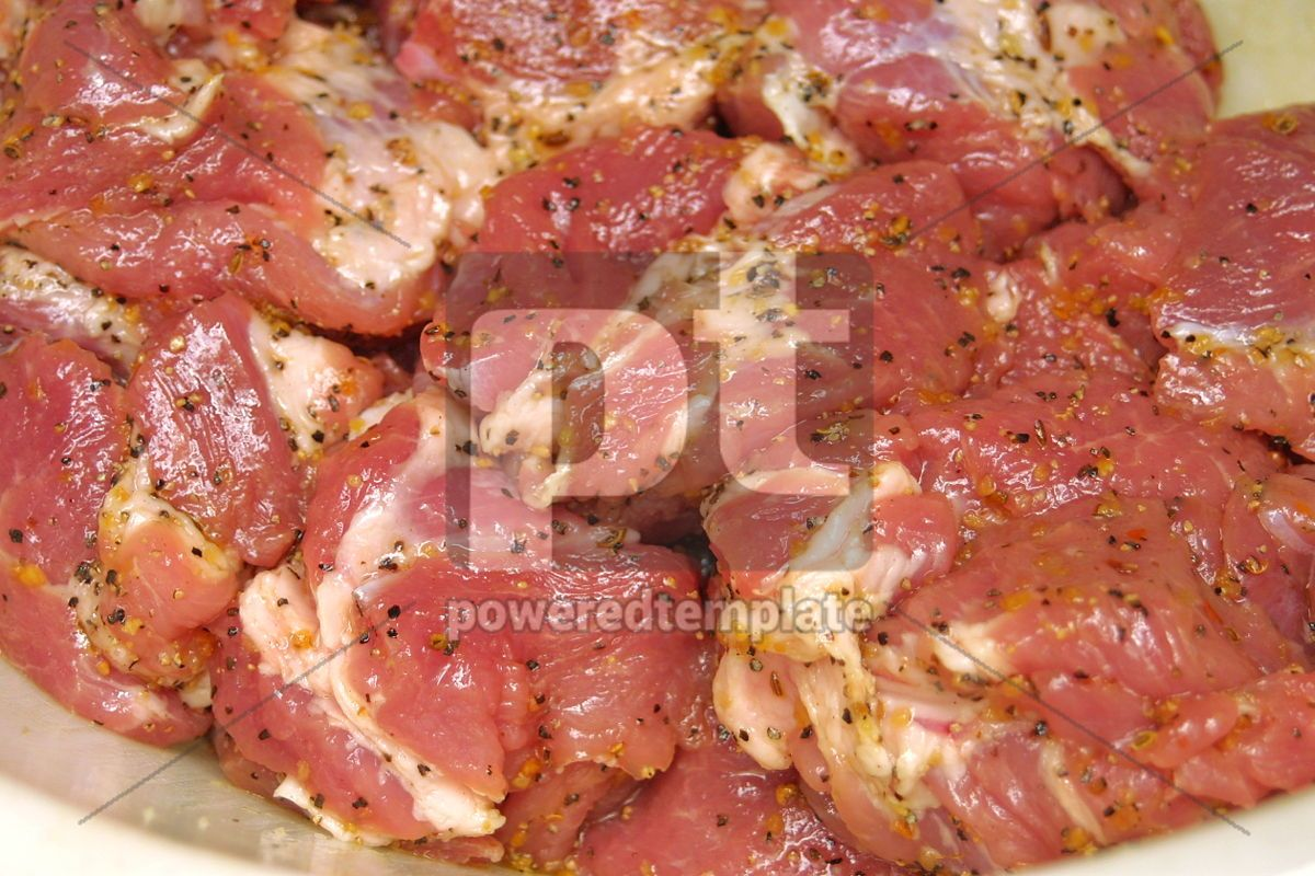 Close-up slices of fresh meat , 05016, Food & Drink — PoweredTemplate.com