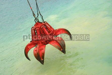 Industrial: bucket of crane above the water #05021