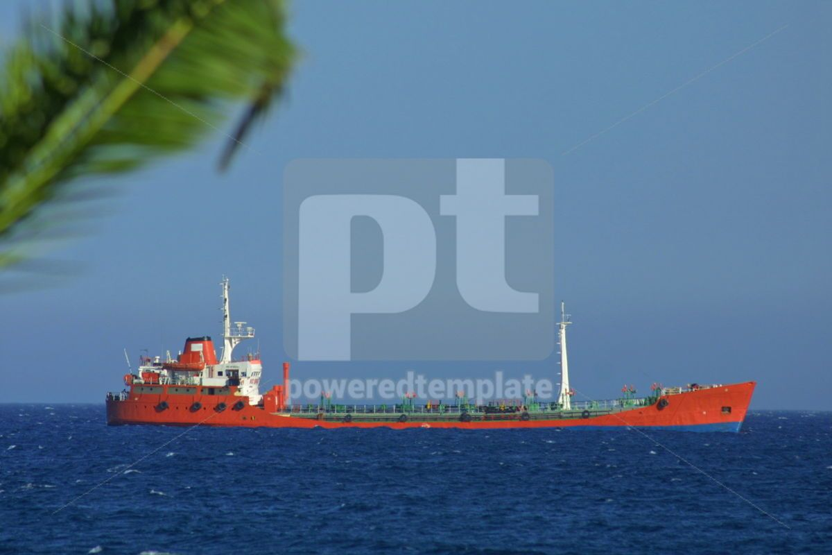Industrial ship in Mediterranean sea, 05022, Industrial — PoweredTemplate.com