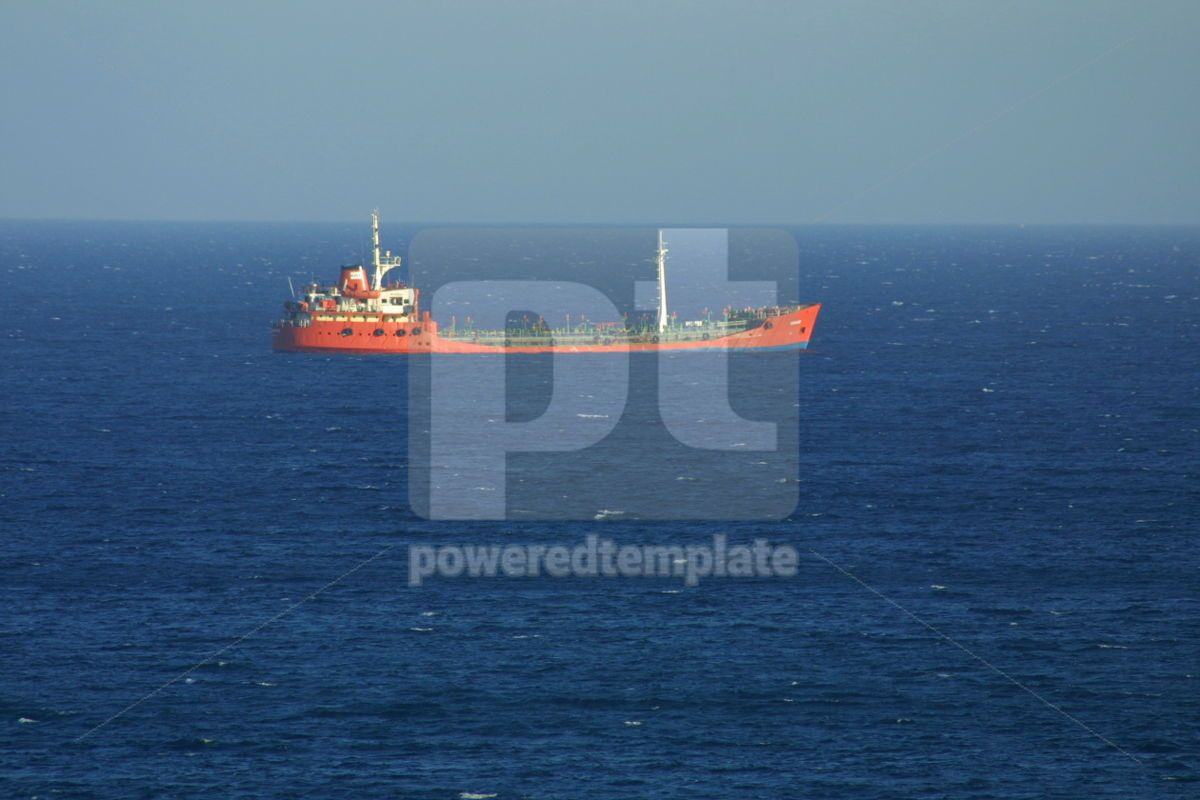 Industrial ship in Mediterranean sea, 05025, Industrial — PoweredTemplate.com