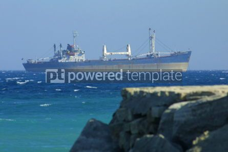 Industrial: Industrial ship in Mediterranean sea #05031