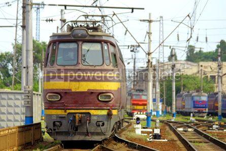 Transportation: Train in station depot #05040