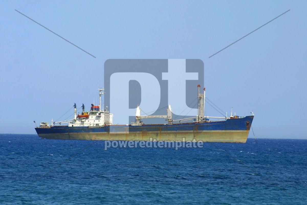 Ship in Mediterranean sea, 05041, Transportation — PoweredTemplate.com