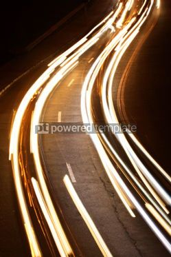 Transportation: City traffic at night (long exposure) #05044