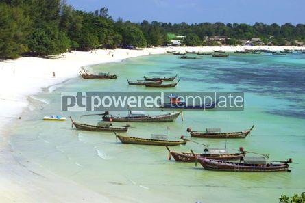 Transportation: Fish boats on the Lipe Island in Andaman sea Thailand #05045