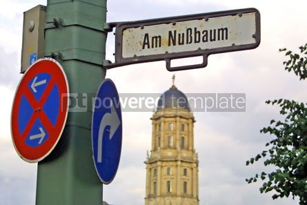 Transportation: Road signs on a post in Berlin city Germany #05046