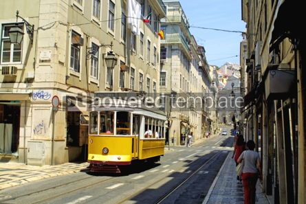 Transportation: Typical yellow tram in Lisbon #05050