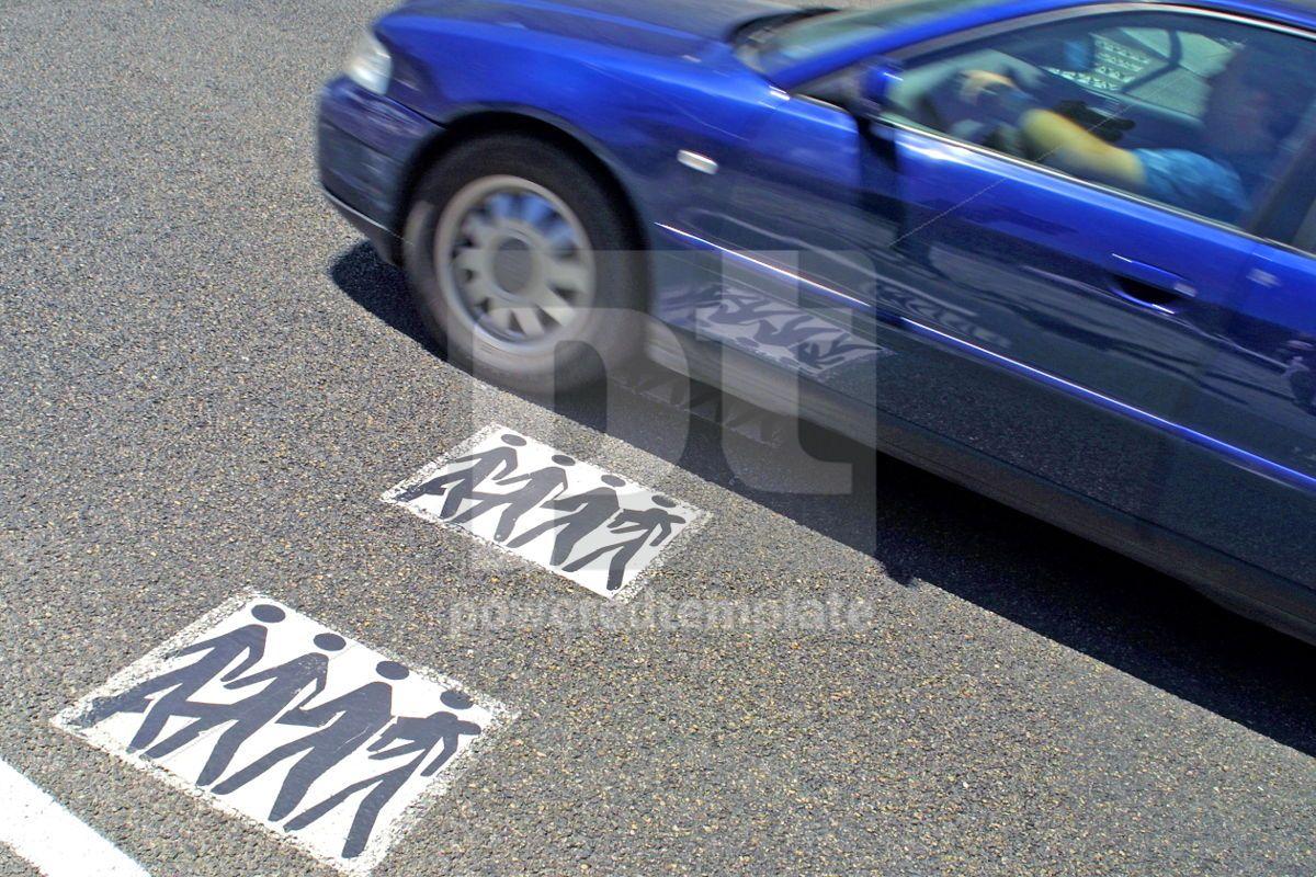 Pedestrian crossing, 05051, Transportation — PoweredTemplate.com