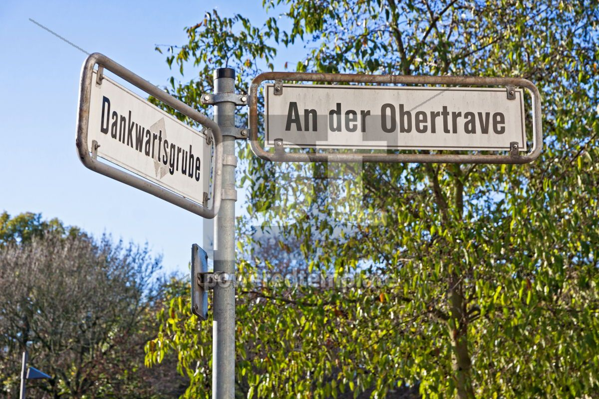 Street sign on a post in Lubeck Germany, 05052, Transportation — PoweredTemplate.com