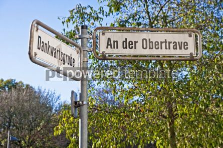 Transportation: Street sign on a post in Lubeck Germany #05052