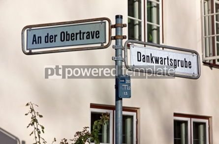 Transportation: Street sign on a post in Lubeck Germany #05053
