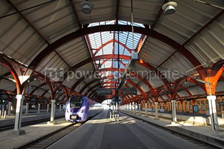 Transportation: Central railway station in Malmo Sweden #05056