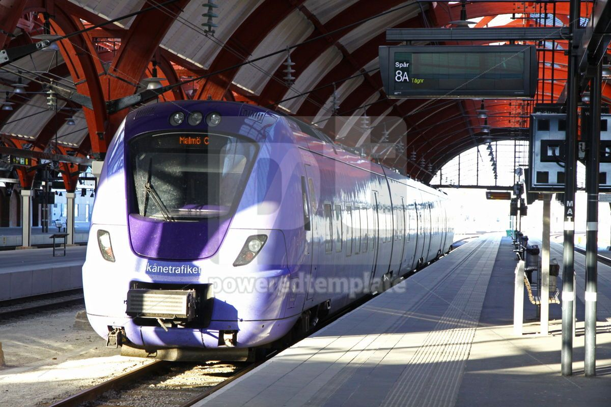 Central railway station in Malmo Sweden, 05057, Transportation — PoweredTemplate.com