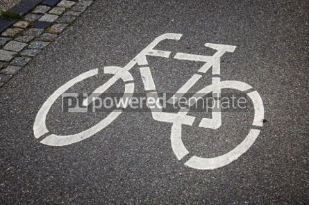 Transportation: Bicycle sign on the road #05059