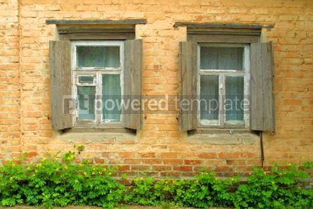 Architecture : Two windows of old house #05074