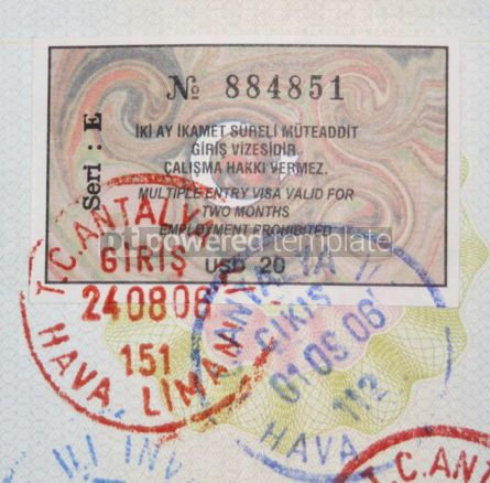 Business: Turkish visa and stamps #05075