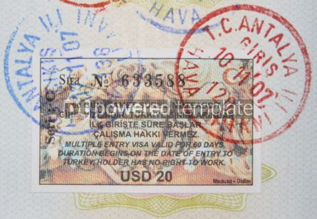 Business: turkish visa and stamps #05076