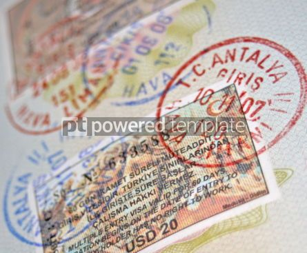 Business: Passport with turkish visas and stamps #05078