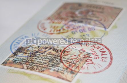 Business: Passport with turkish visas and stamps #05080