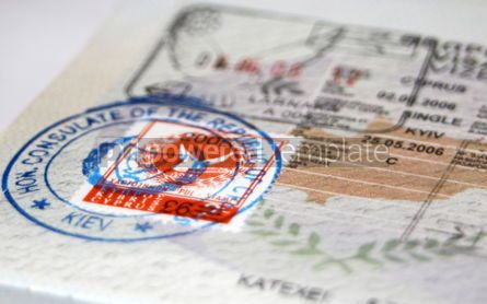 Business: Passport with Cyprus visa and stamps #05081
