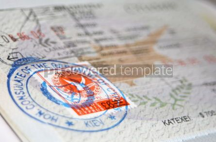 Business: Passport with Cyprus visa and stamps #05083