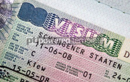 Business: Close-up page of passport with Schengen visa #05088
