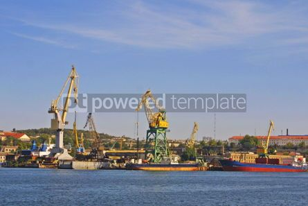 Nature: Dock crane towers in Savestopol bay Ukraine #05098