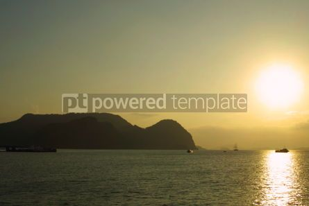 Nature: Sunset on Andaman sea near Langkawi island Malaysia #05101