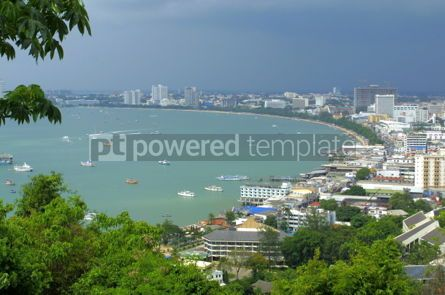 Architecture : Pattaya city from observation point on the hill #05131