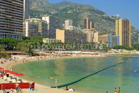Architecture : Sandy beach in Monte Carlo Monaco #05139