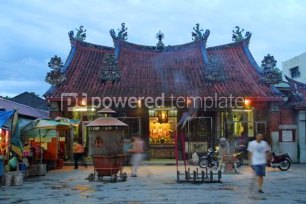 Architecture : Chinese temple in GeorgeTown Penang island Malaysia #05144