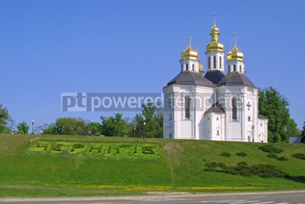 Architecture: Ekateriniska church in Chernigov #05161