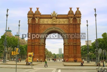 Architecture : Arc de Triomphe in Barcelona #05163