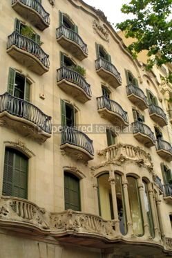 Architecture : Art Nouveau building in Barcelona Spain #05164