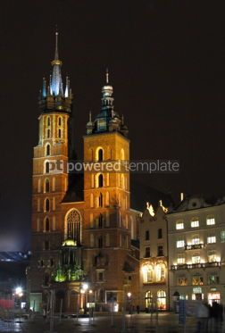 Architecture : St. Mary's Basilica at night #05177