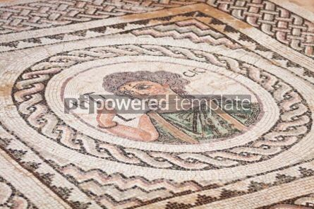 Architecture: Ancient religious mosaic in Kourion Cyprus #05179