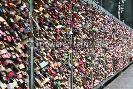 Architecture: Hohenzollern Bridge in Cologne with personal love padlocks #05192