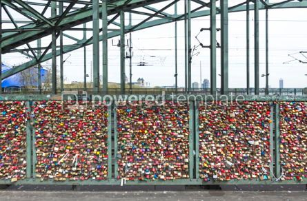 Architecture: Hohenzollern Bridge in Cologne with personal love padlocks #05193