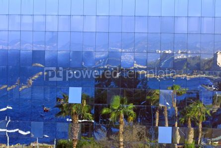 Architecture : The reflection of city in glasses building #05195