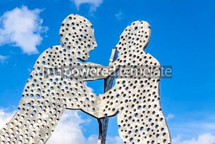 Architecture : Molecule Man sculpture on Spree River in Berlin Germany #05316