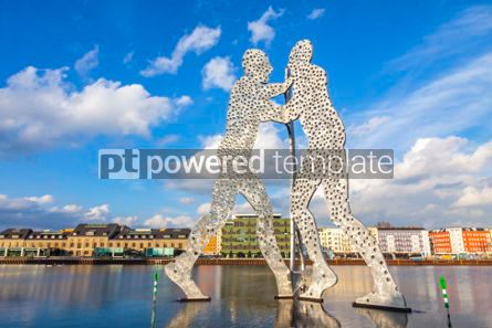 Architecture : Molecule Man sculpture on Spree River in Berlin Germany #05317