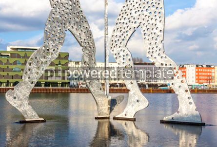 Architecture : Molecule Man sculpture on Spree River in Berlin Germany #05319