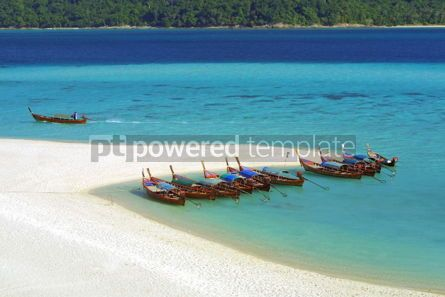 Nature: Fish boats on the tropical island in Andaman sea Thailand #05395