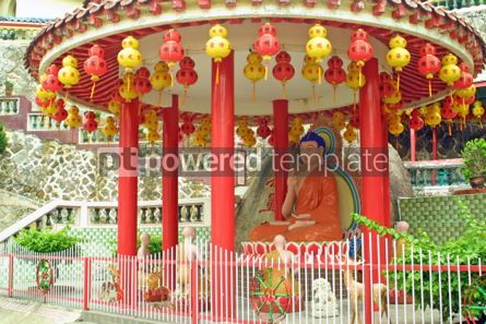 Architecture : Statue of Buddha in Chinese Temple #05406