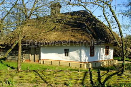 Architecture : Typical thatched roof house #05409