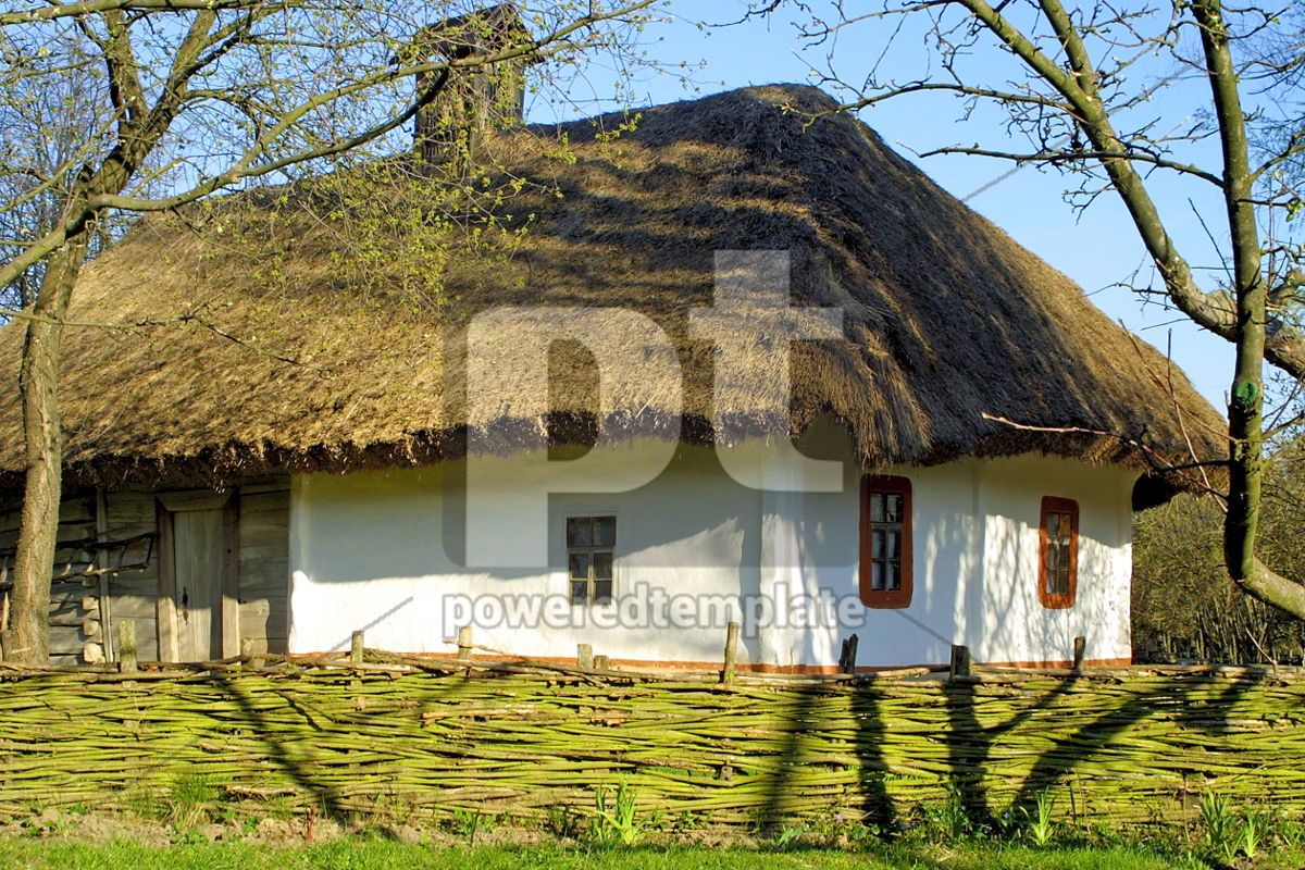 Typical thatched roof house, 05410, Architecture  — PoweredTemplate.com