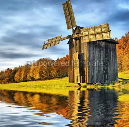 Architecture : Windmill near the river #05414
