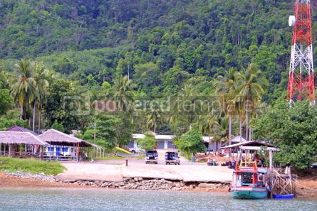 Transportation: Pier on Koh Chang island Thailand #05422